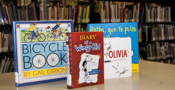 Example of children's materials available at Briggs Library.