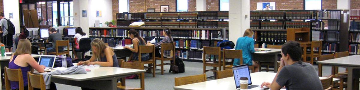 Main floor of the Library