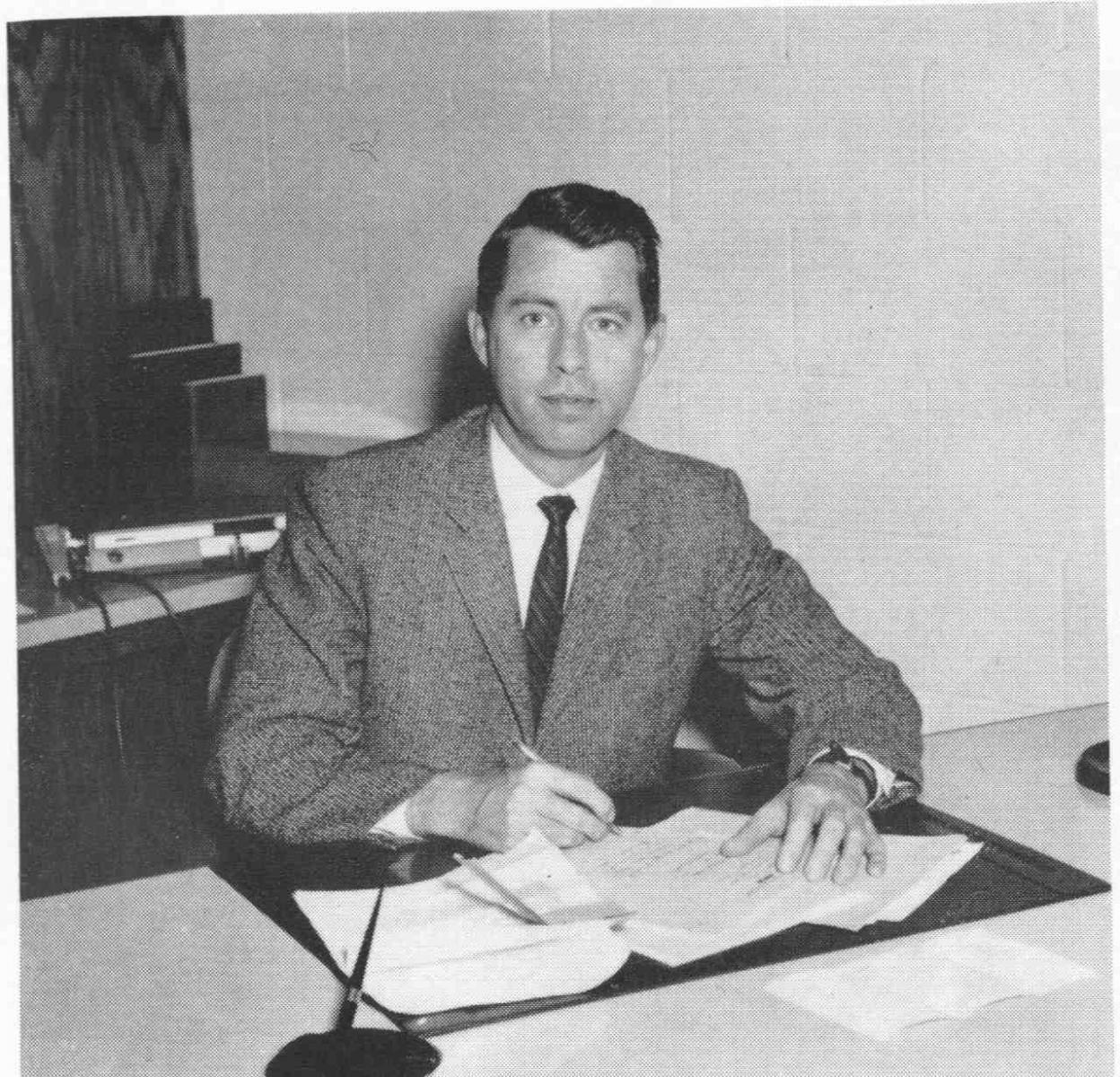 West Central School of Agriculture Superintendent Rodney A. Briggs, in 1960, transitioned to become the first Dean and Provost of UMM.