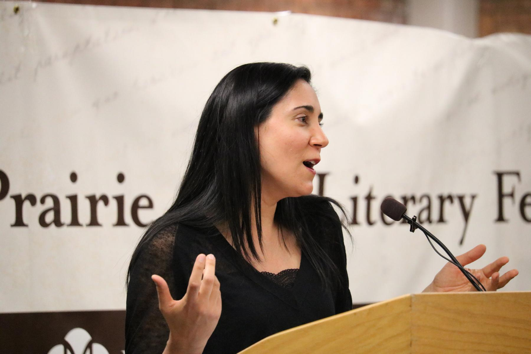 Author Vandana Khanna at the 2015 Prairie Gate Literary Festival