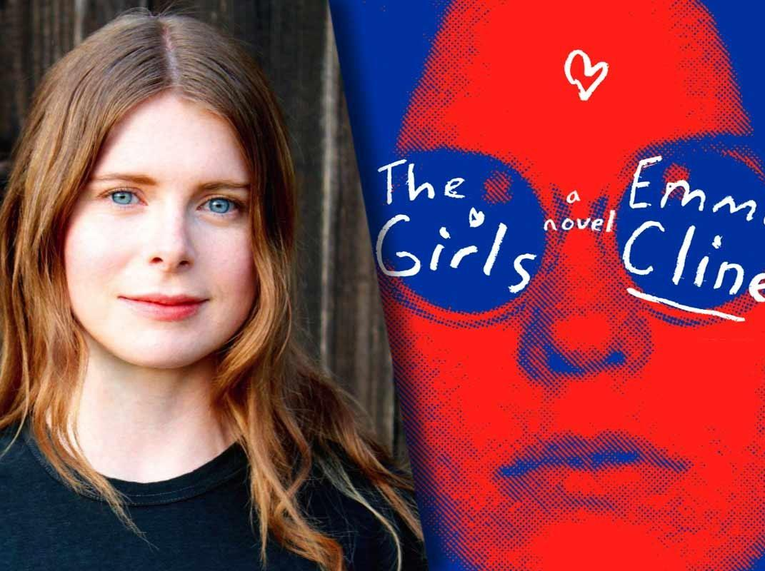 The Girls book cover and photo of author Emma Cline