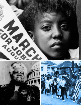 Collage of images representing in Black Americans