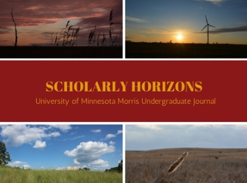 Scholarly Horizons publication logo featuring four images depicting the prairie.