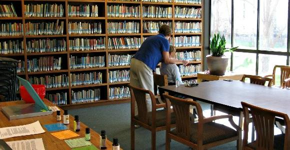 Briggs Library 5-minute free massages.