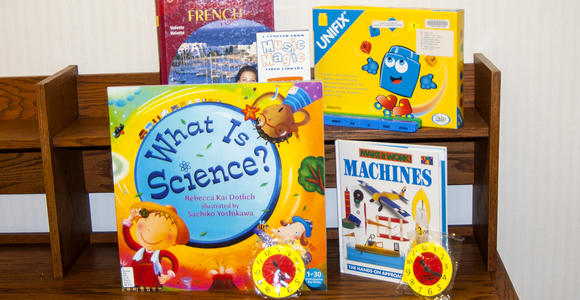 Briggs Library has various curriculum materials for use.