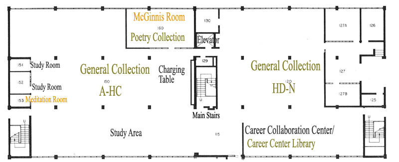 Floor 1 Library Map