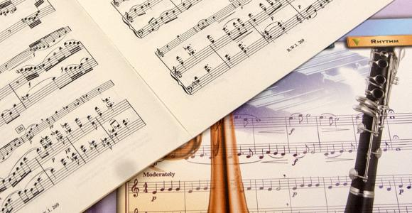 Music scores are available for check out.