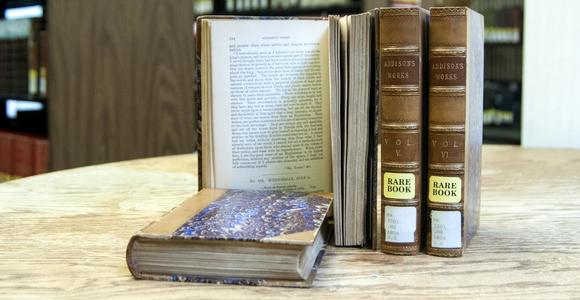 Example of rare books available at Briggs Library.
