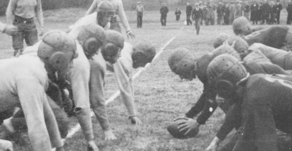 Football game at West Central School of Agriculture