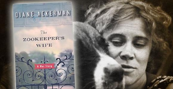The Zookeeper's Wife book cover with author and a dog