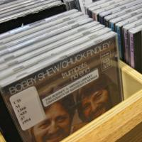 Visit the music cd collection.