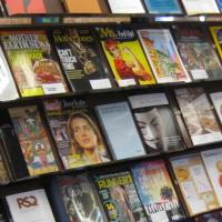 Display of current periodicals and scholarly journals for patron use.