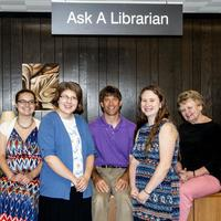 Reference librarians available to help you