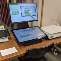 image of touchscreen book edge scanner