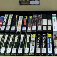 Video collection on VHS tapes