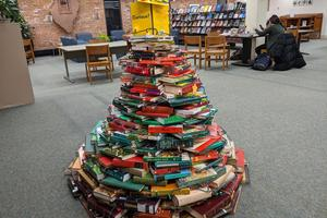 Winter Book Tree