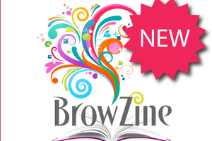 "Open book with colorful design and the text ""Browzine"" and ""New""."