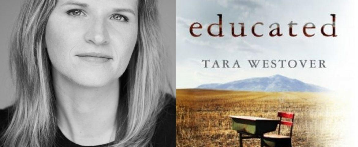 Author Tara Westover and Educated book cover