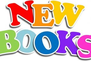 New Books in colorful letters
