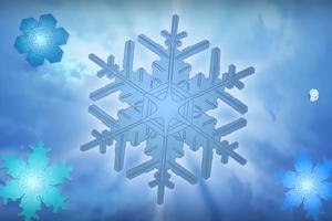 Snowflake with a blue background