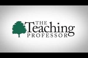 Text reading: The Teaching Professor and a tree.