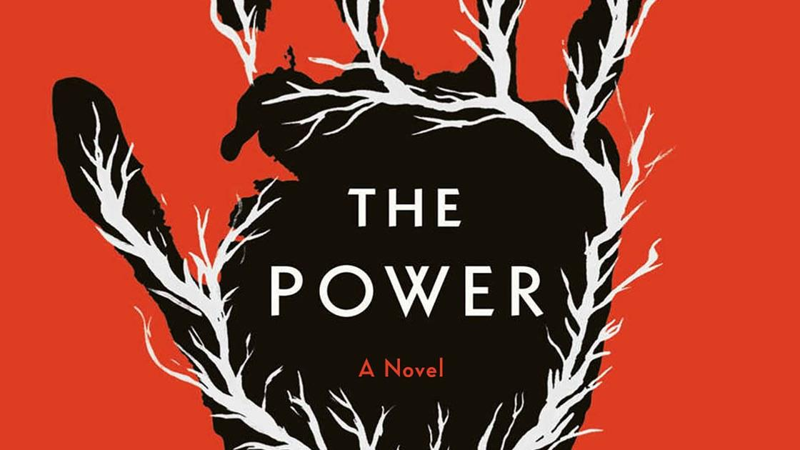 The Power book cover, red with black hand.